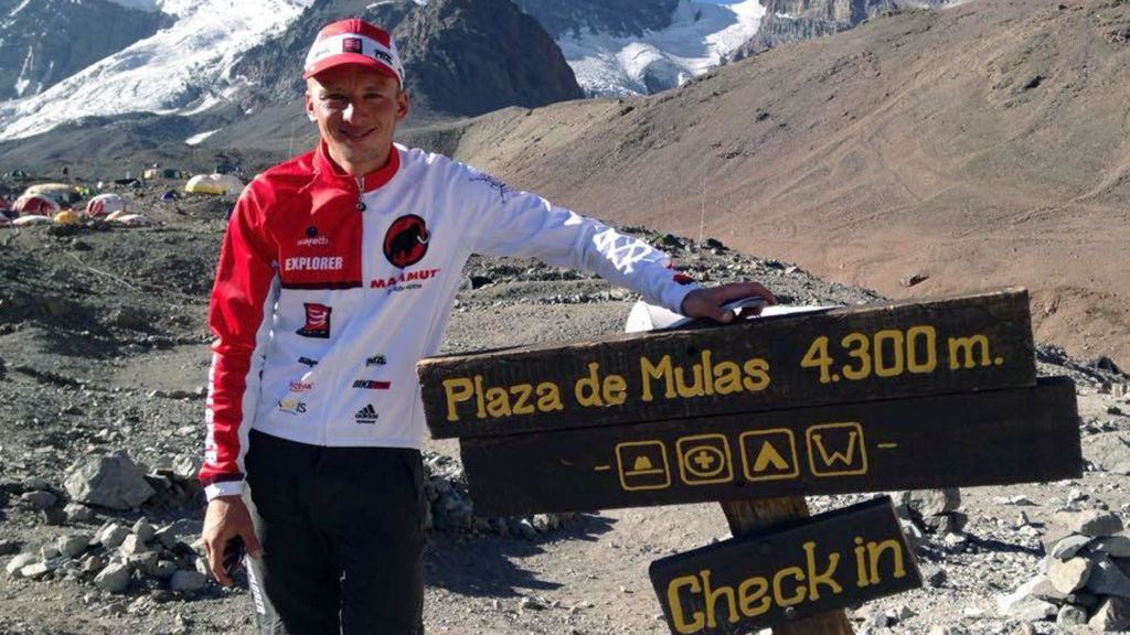 Who is Karl Egloff, the Aconcagua Summit record holder?