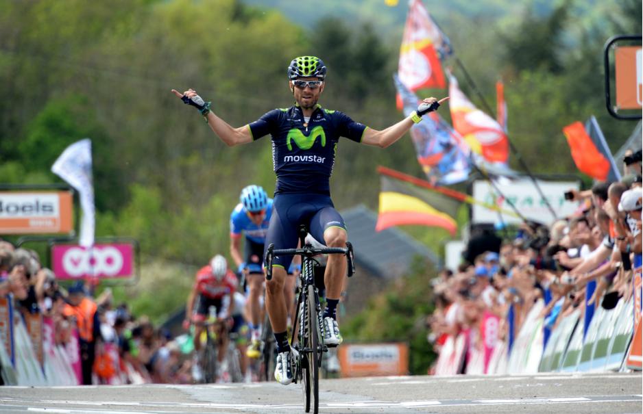 Alejandro Valverde ganando la Flecha Valona
