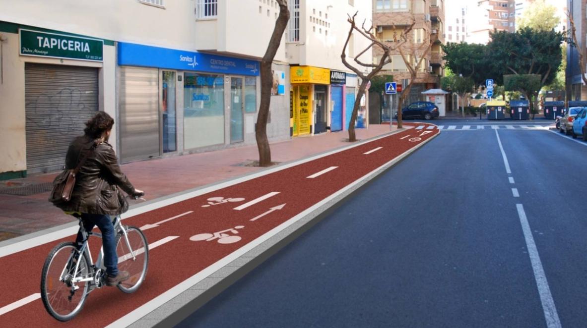 carril bici en ciudad