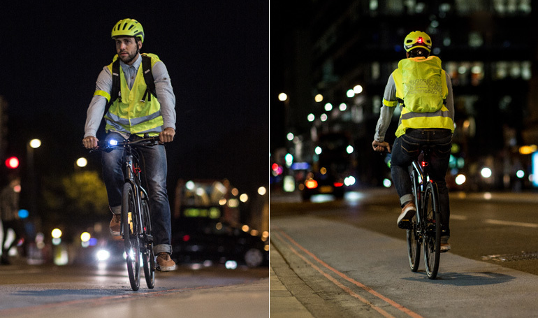 Make yourself visible while riding your bike in the city