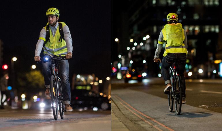 Sé siempre visible cuando circules en ciudad con tu bici