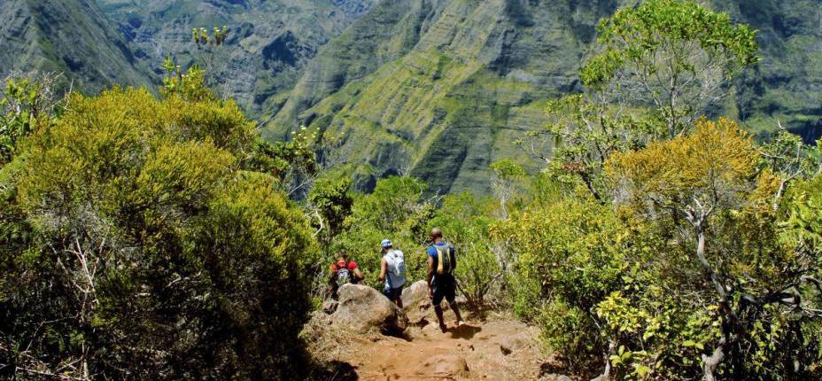 Participar en el Raid de Reunion es tradición entre los habitantes de la isla, muy aficionados al trail