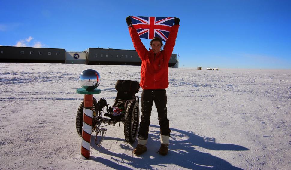 Maria Leijerstam arrivando alla Antartica