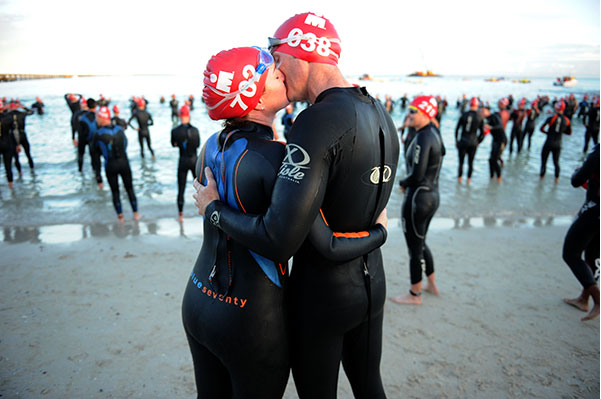 Couple triathlon